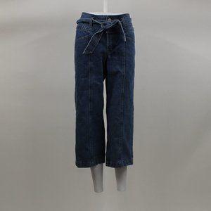 Fashion Nova Tie Waist Jean Crop